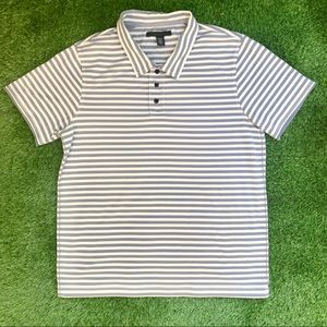 Kenneth Cole Cotton Striped Polo Shirt Size Medium